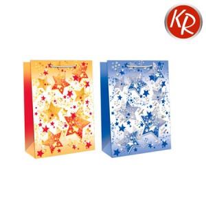 10er-Pack Weihnachtssterne gelb, blau groß 71-0042