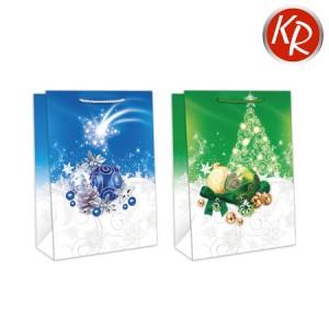 10er-Pack Weihnachtssterne blau, grün groß 71-0051