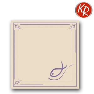 20er Pack Servietten Fisch Lavendel 73-0002