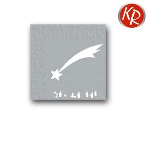 16er Pack Sternprägung, silber 73-0067