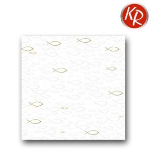 16er Pack Fischprägung weiß/gold 73-0068