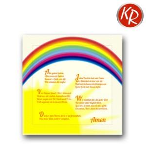 20er Pack Serviette Regenbogen mit Tischgebeten 73-0070