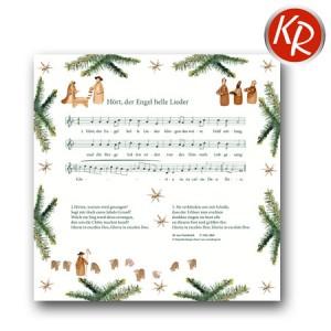 20er Pack Serviette Hört der Engel helle Lieder 73-0075