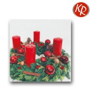 20er Pack Serviette Adventskranz 73-0082