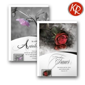 10er Serie Trauerkarten 85-0040